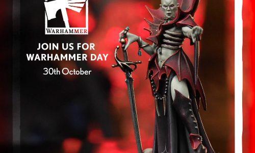 El 30 de octubre es el Warhammer Day y este año la miniatura exclusiva es Anasta Malkorion