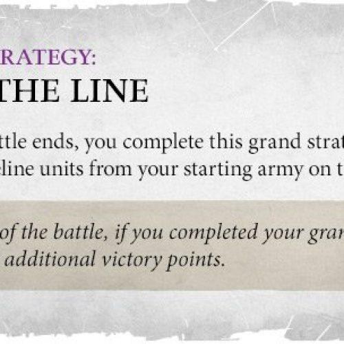 La gran estrategia de Mantener la Línea en AoS 3.0