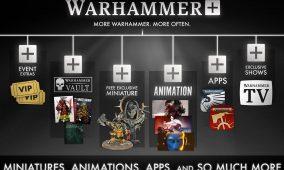 Warhammer+ se estrenará el 25 de agosto con series, miniaturas exclusivas de regalo, acceso a material antiguo, apps y más