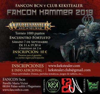 Fancon Hammer 2019, por FANCON BCN y Club Kekstealer @ FANCON BCN, Pavelló Maria Victor | Palau-solità i Plegamans | Catalunya | España