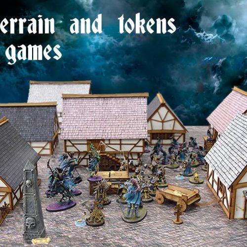 Nueva escenografía prepintada de fantasía medieval en Bandua Wargames