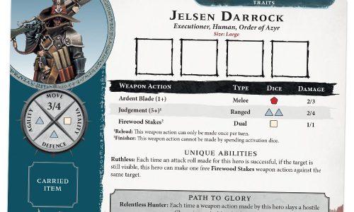 Las reglas ofensivas del cazador de vampiros Jelsen Darrock y un esqueleto