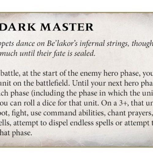 Adelanto de las reglas de Be'lakor y de otras unidades de su Broken Realms