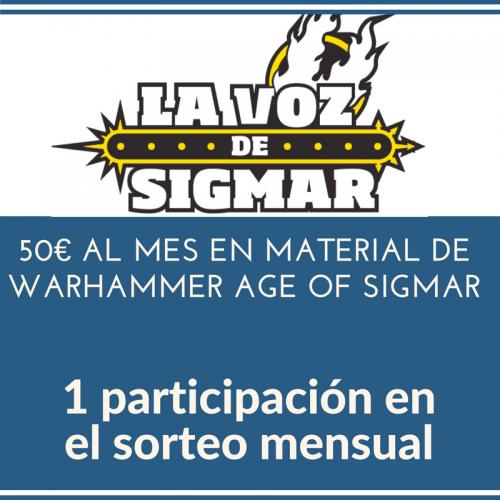 Apoya a La Voz de Sigmar y participa del sorteo de 70€ de Warhammer Age of Sigmar cada mes