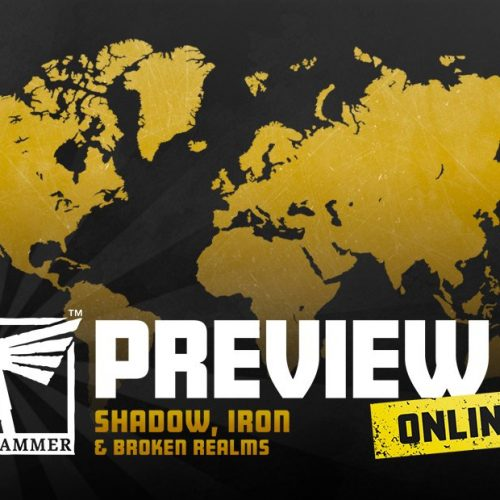 Sombra, Hierro y Reinos Rotos (seminario online de novedades de Games Workshop)