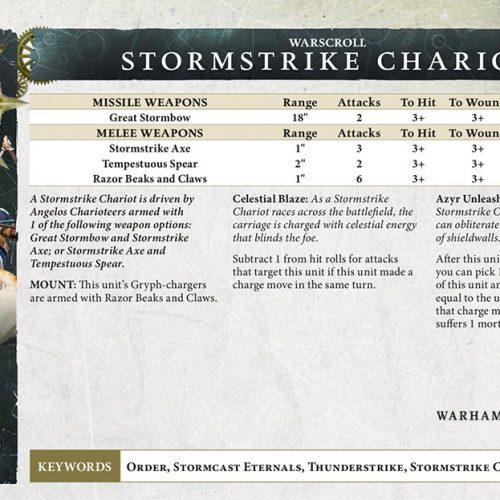 El warscroll del Carro Stormstrike y otras reglas del nuevo tomo Stormcast